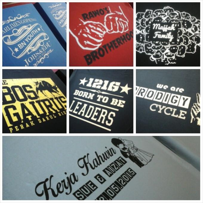 cetak t-shirt