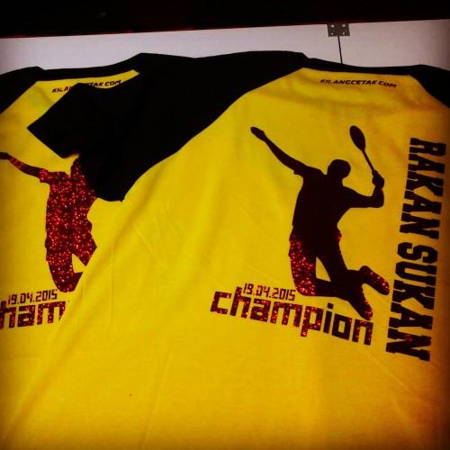 cetak baju badminton