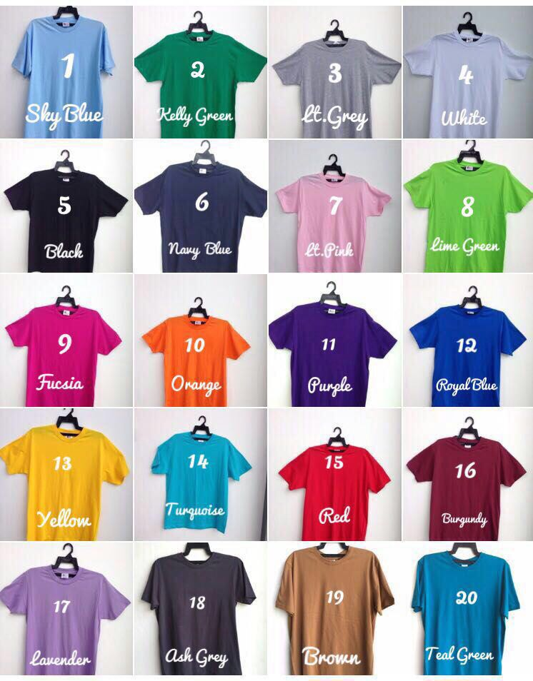 warna baju cotton