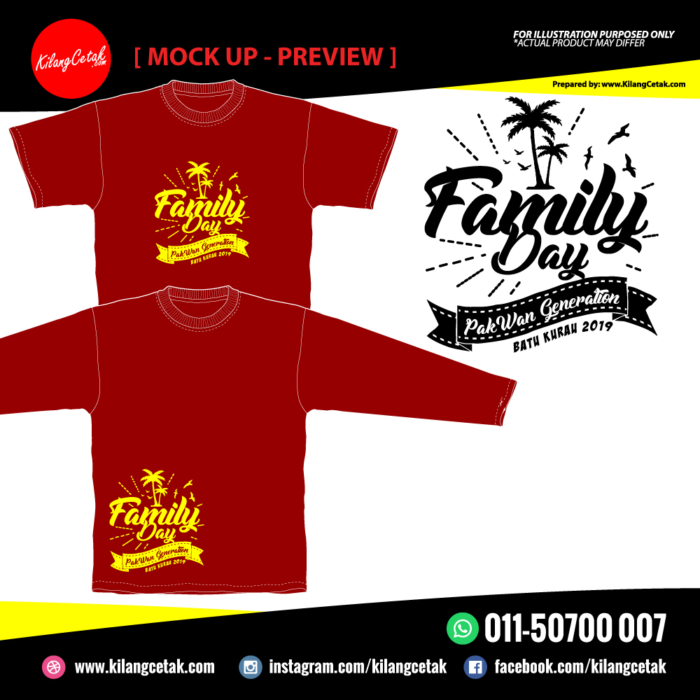 Design Baju Family Day April, Mei & Jun 2019
